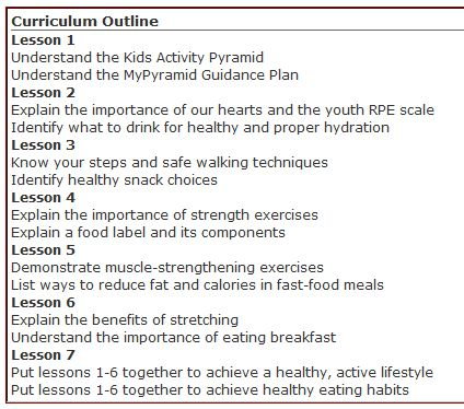 Free Physical Education Curriculum for Elementary and Middle School