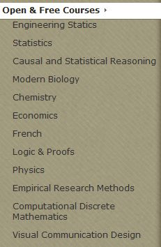 free university courses engineering, statistics,