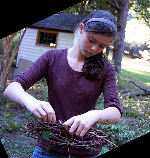 crafting a grapevine wreath