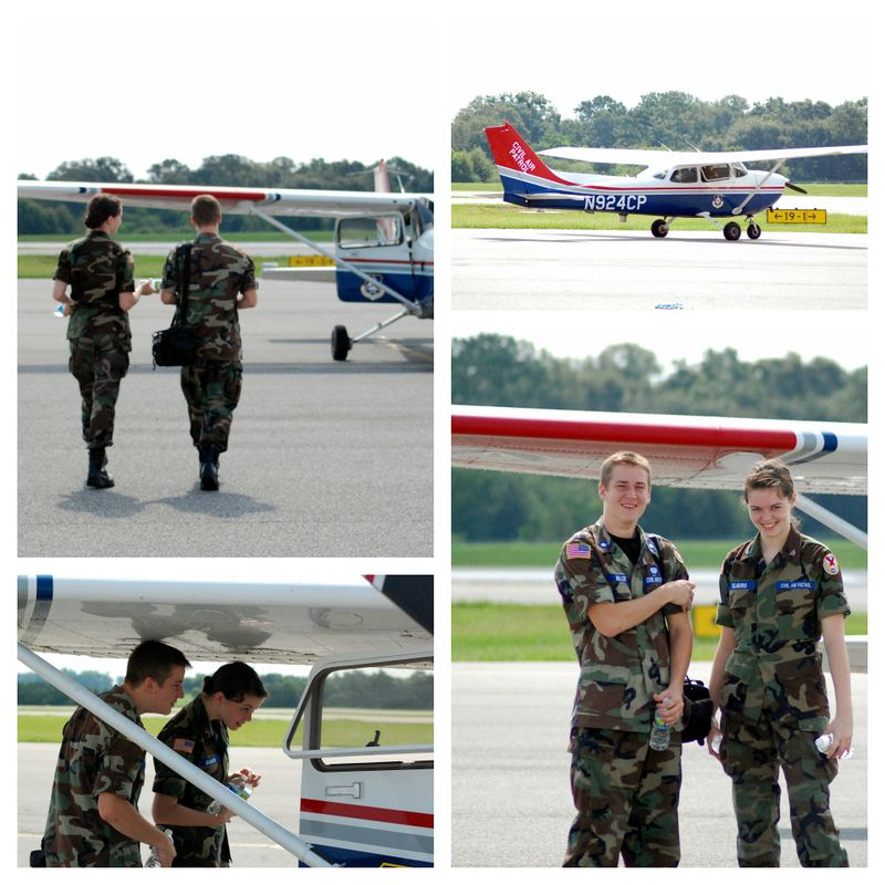 Civil Air Patrol Cadets (our daughter and a friend)