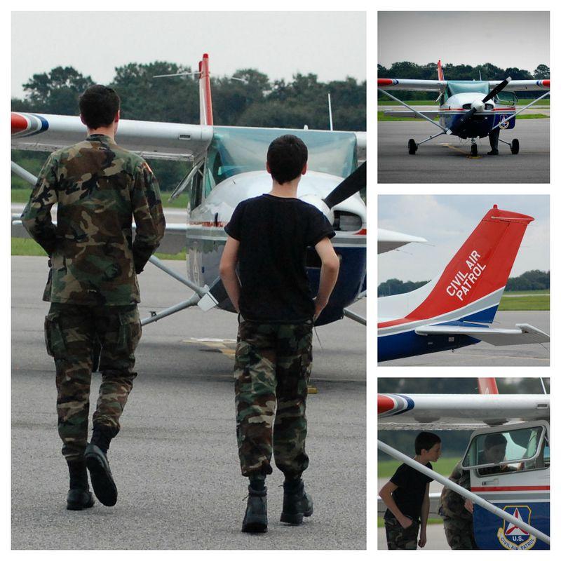 Our boys in the Civil Air Patrol