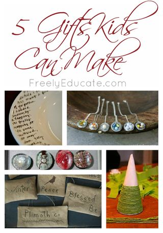 5 Christmas Gifts Kids Can Make with words