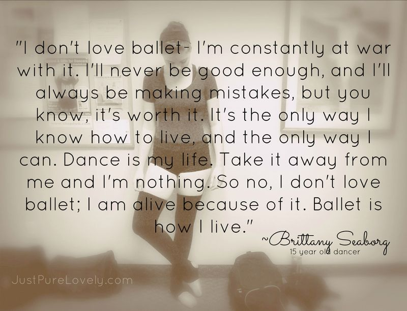 Brittany Ballet Quote