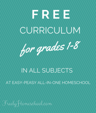 Easy peasy free curriculum for 1-8